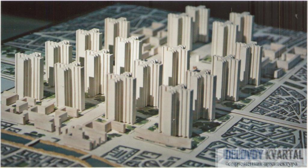 Макет проекта реконструкции центра Парижа («План Вуазен»)