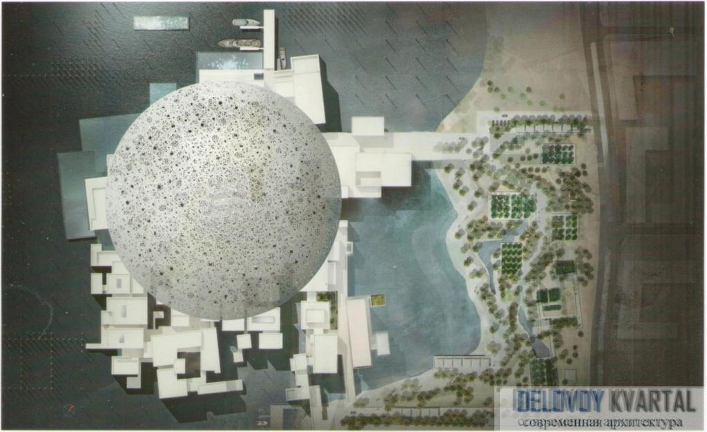 проект музейного комплекса Лувр в Абу-Даби