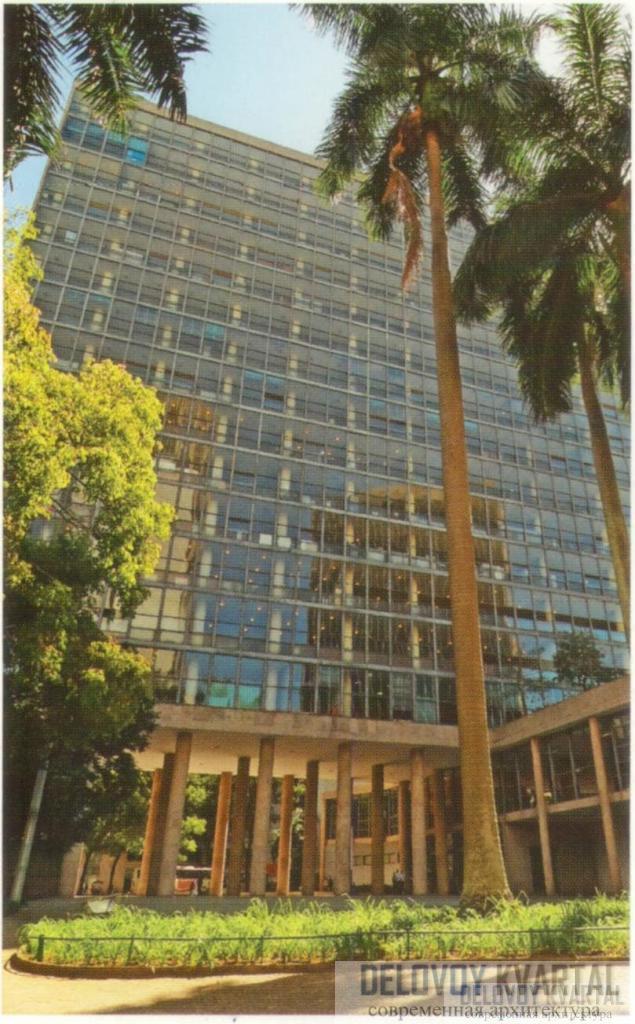 Дворец Г. Капанемы, или здание Министерства образования и здравоохранения. Рио-де-Жанейро, Бразилия