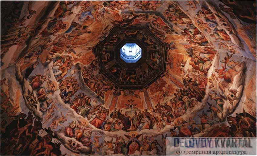 Дж. Вазари, Ф. Цуккаро. Роспись купола «Страшный суд». 1568-1579 гг.