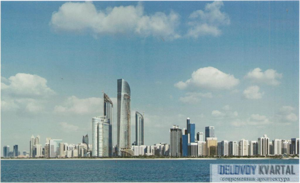 "Панорама города с башней ""Лэндмарк"". Абу-Даби, ОАЭ"