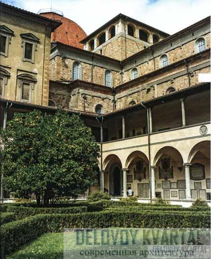 Церковь Сан-Лоренцо. Старая сакристия - архитектор Брунеллески