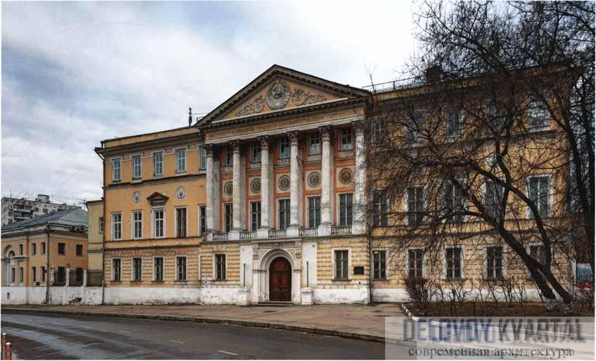 Дом И. И. Демидова со стороны Гороховского переулка