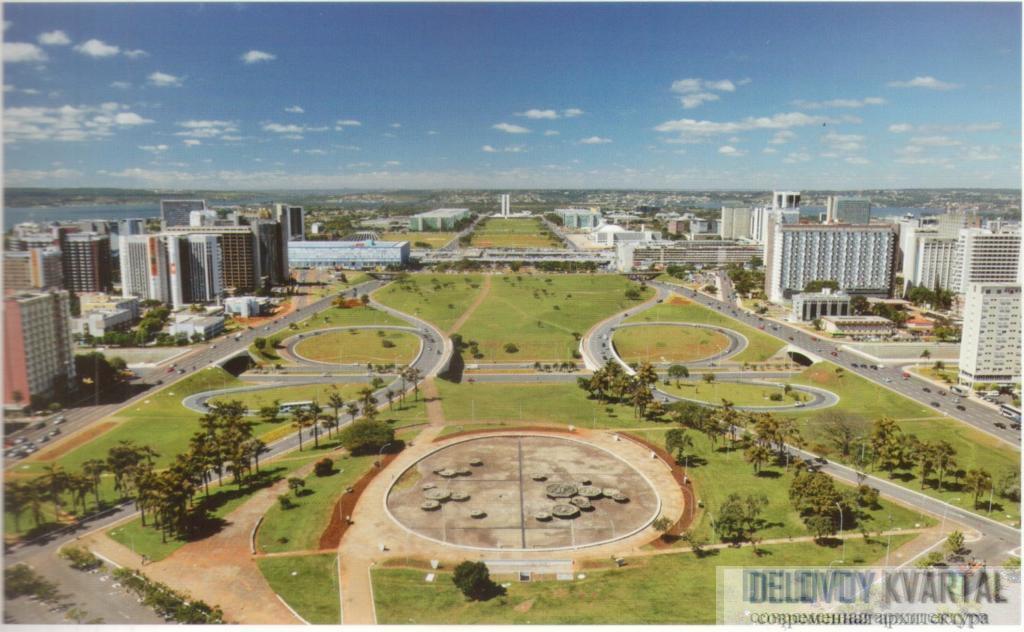 Проспект «Монументальная ось». Бразилиа, Бразилия