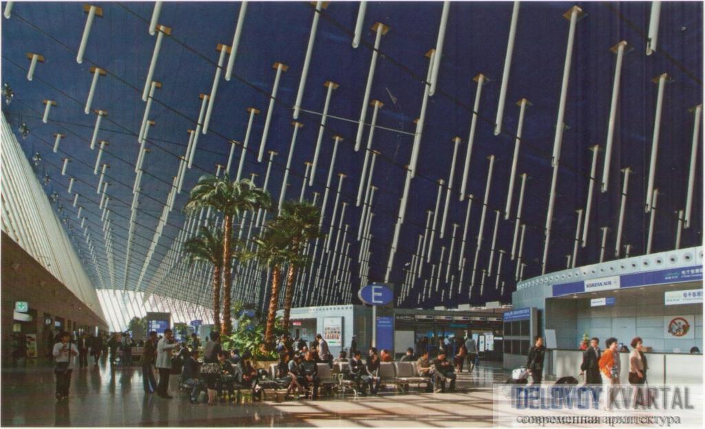 Зал регистрации аэропорта Пудун