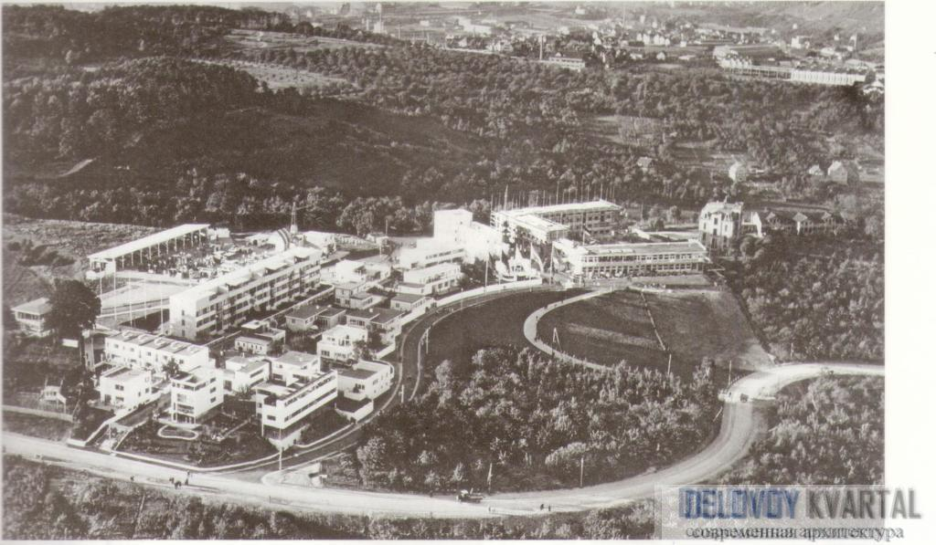 Поселок Вайсенхоф. Вид сверху