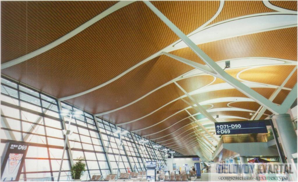 Зал ожидания аэропорта Пудун