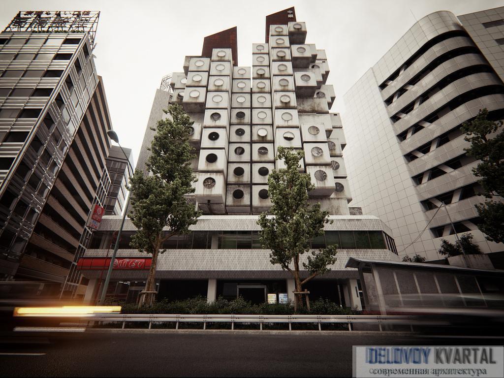 Капсульная башня Nakagin в Токио