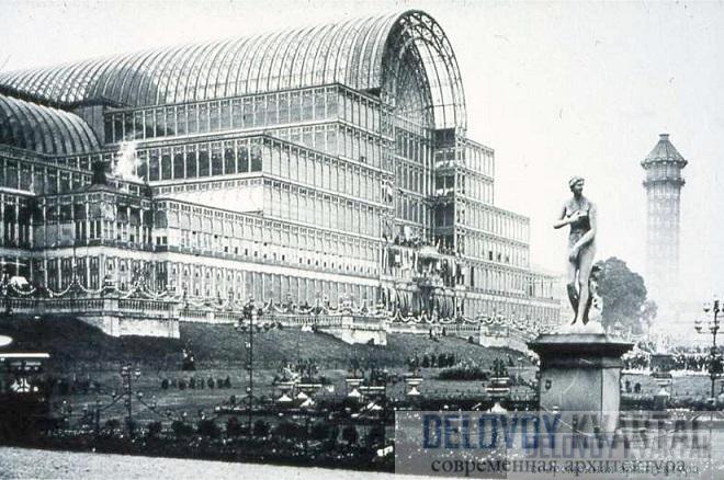 Хрустальный дворец на новом месте. Фотография 1854 года.