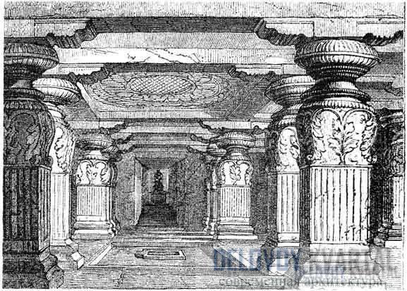 Пещера Индра Сабха в Эллоре (IX в.).