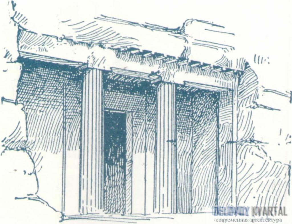 Входной портик. Бени-Хасан (2130-1785 до Р. X.)