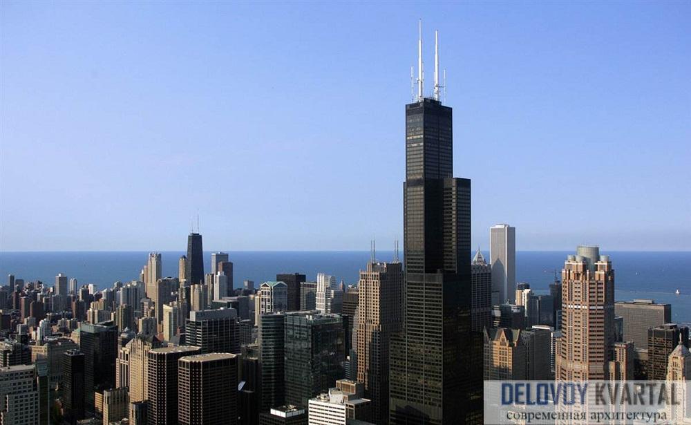 """Уиллис-тауэр (Willis Tower, """"Сирс тауэр"""" до 2009 г.), Чикаго, США"""