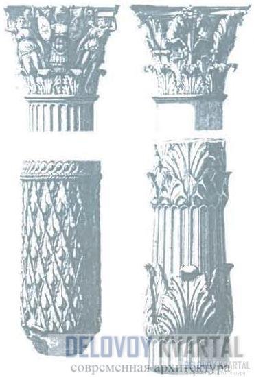 Фрагменты римских колонн