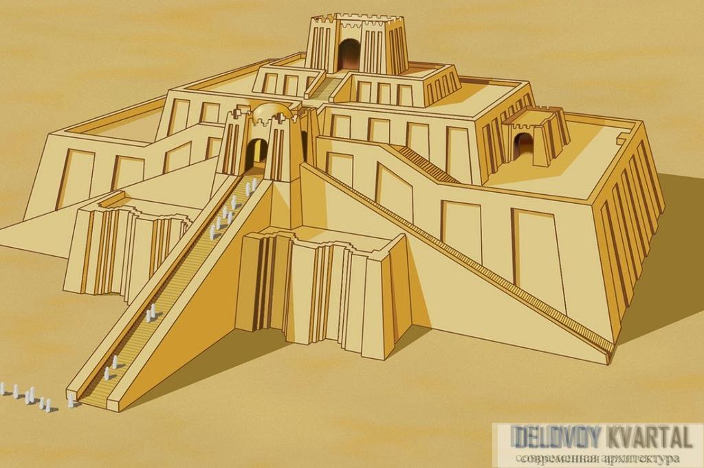Три лестницы ведут вверх и сходятся на первом ярусе