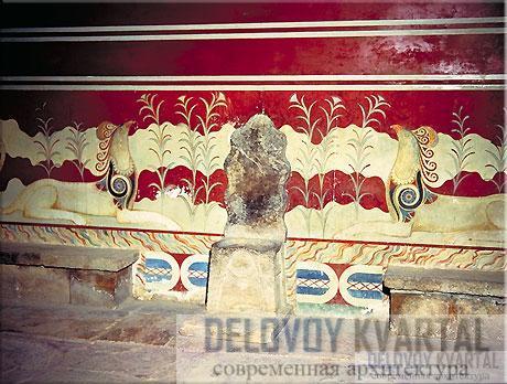 Тронный зал с грифонами на стенах
