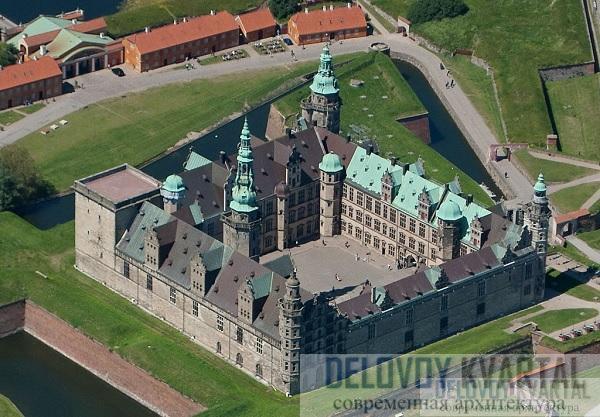 Нынешний облик замка Кронборг (в переводе с датского -«королевской крепости») по большей части создан архитектором Антонисом ван Опбергеном по приказу короля Дании Фредерика II.
