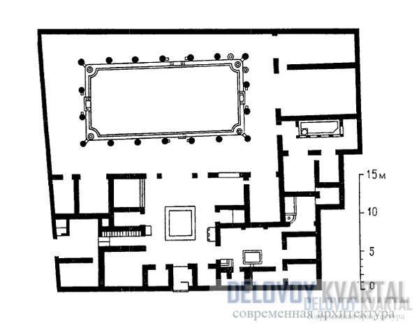 План двориков и дома