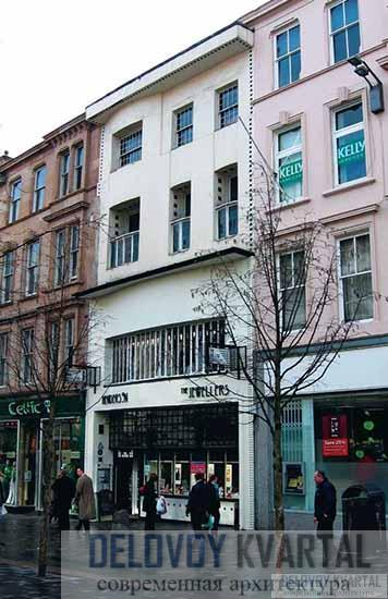 гались на наиболее оживленных улицах центра города, Ивовые чайные комнаты. Фасад