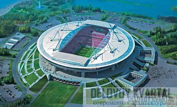 Стадион клуба «Зенит». Санкт-Петербург, Россия. Макет