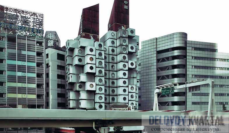 Капсульная гостиница «Накагин» в Токио