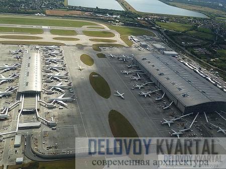 Аэропорт Хитроу, терминал 5. Общий вид. Лондон, Великобритания