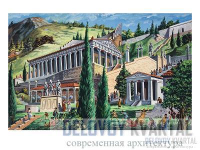 Так выглядел  храм Аполлона