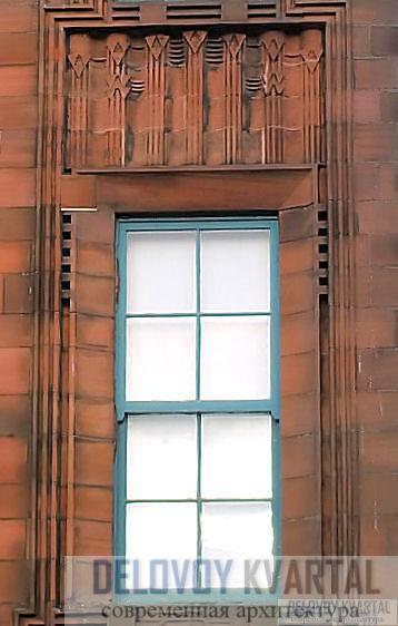 Окна южного фасада школы на Скотланд-стрит, архитектор - Чарльз Ренни Макинтош.