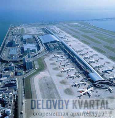 Международный аэропорт Кансай. Общий вид. Осака, Япония