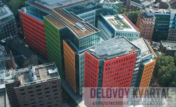 Административно-жилой комплекс «Central Saint Giles». Лондон, Великобритания