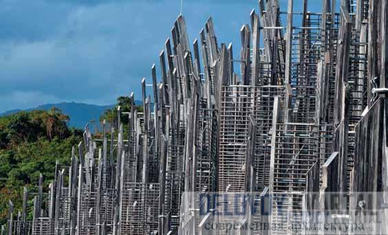 Фрагменты деревянных конструкций завершения блоков