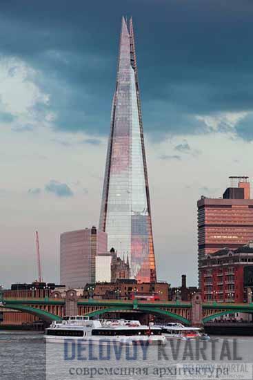 Лондонский мост и небоскреб «Шард» в городской застройке
