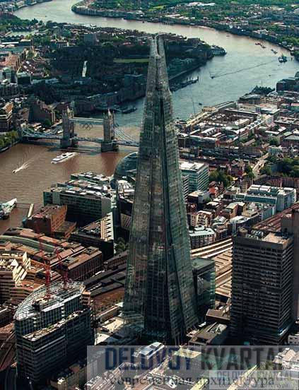 «Шард» на фоне исторической застройки Лондона