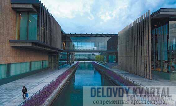 Корпуса музея и соединяющий их мост