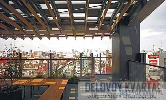 Открытая веранда на восьмом этаже
