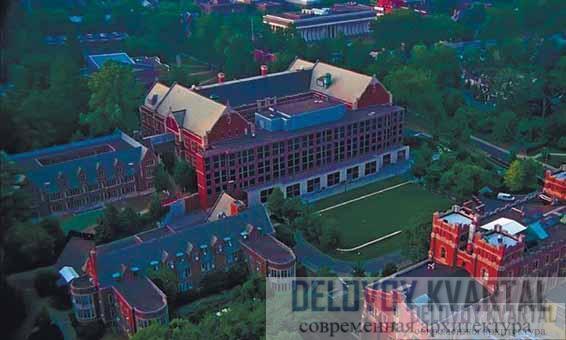 Фирст кампус-центр, Принстонский университет. Панорамный вид