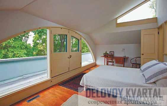 Интерьер спальни архитектора