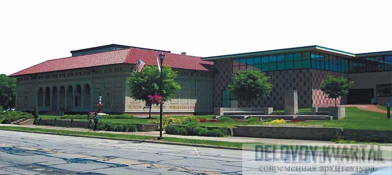 Мемориальный художественный музей Аллена. Старая и новая галереи. Архитекторы — Касс Гилберт и Роберт Вентури