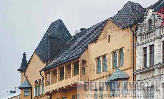 «Дом врачей». Фрагмент фасада. Балкон