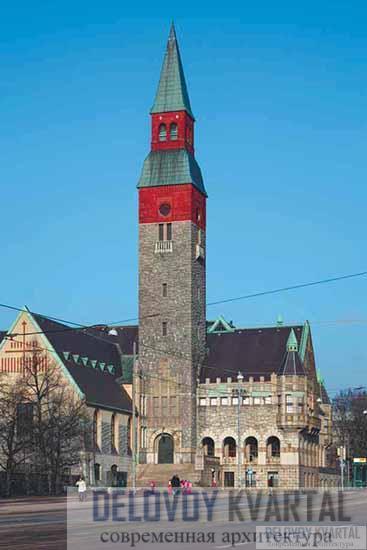 Национальный музей. Общий вид. Хельсинки, Финляндия
