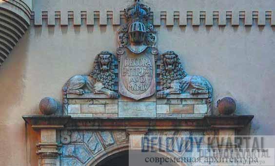 Национальный музей. Фрагмент фасада, декор