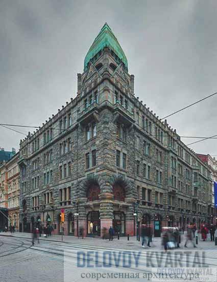 Здание страхового общества «Похьола». Общий вид. Хельсинки, Финляндия