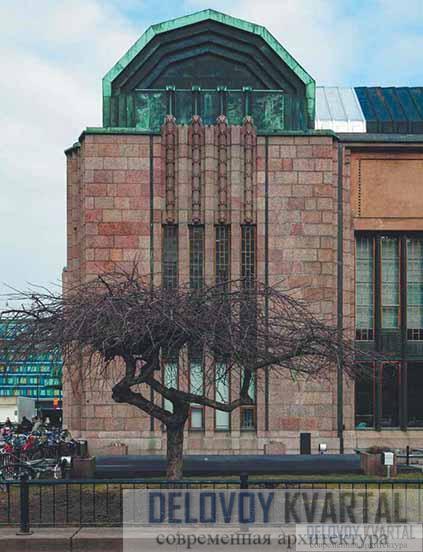 Фрагмент фасада. Левый фланг главного фасада
