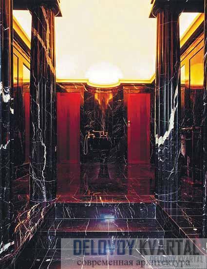 Вилла Карма. Интерьер входа в зону ванных комнат