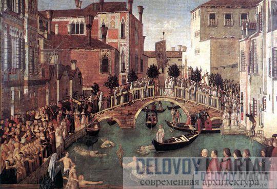 торой мост Риальто, изображенный на картине Витторе Карпаччо «Чудо Святого Креста», XV век