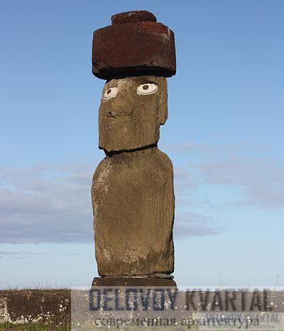 У статуй когда-то были глубоко посаженные глаза из белого коралла, с темными каменными зрачками.