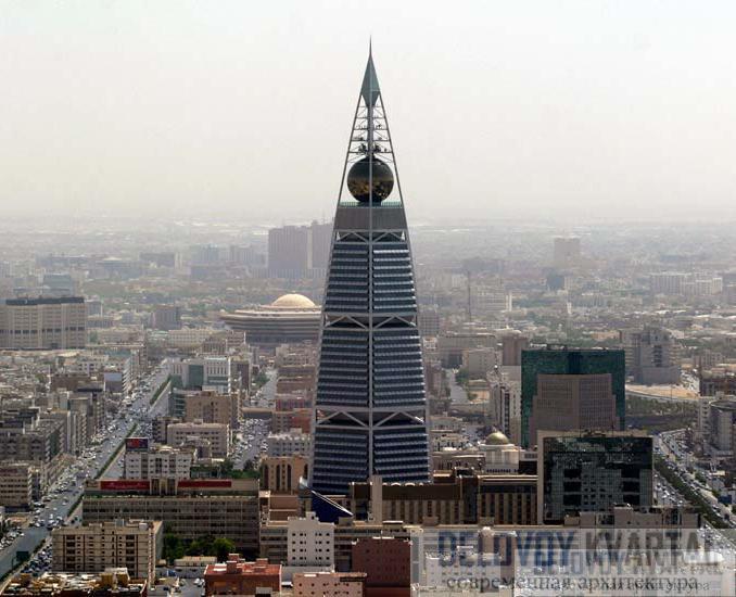 Наиболее заметным элементом небоскреба является позолоченный шар  светящийся по ночам разноцветными огнями. В шаре размещается роскошный ресторан, из которого открываются фантастические виды города.
