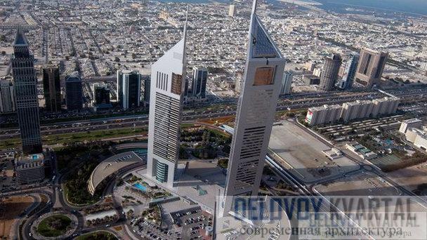 Эмиратские башни-близнецы (Emirates Towers, Дубай)