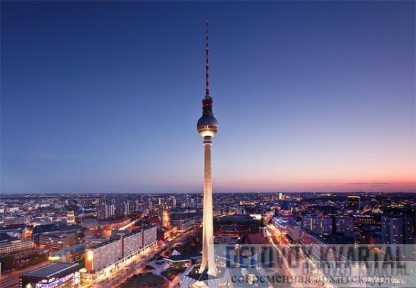 Берлинская телебашня (Херман Хенсенманн и Йорг Штратпарт)
