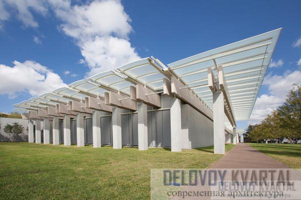 Пристройка к музею искусств (арх. Ренцо Пиано, Форт-Уэрт, Техас)