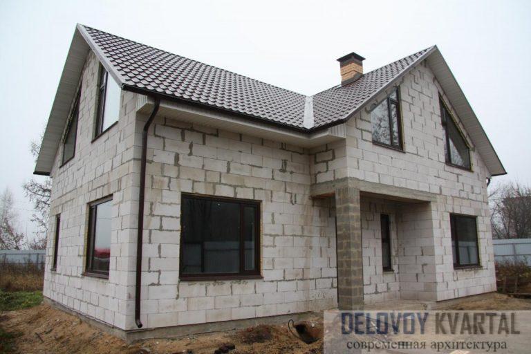 Дом из готовых пенобетонных блоков